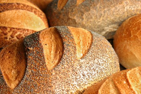 various kind of fresh bread