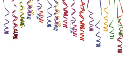 colorful confetti isolated on white background.Easy to separate and create your own decoration 스톡 콘텐츠