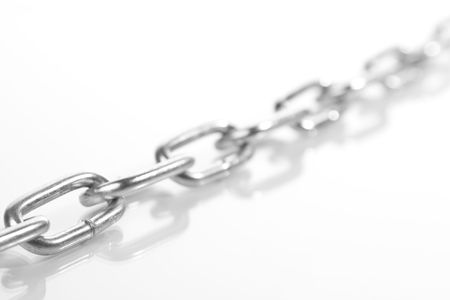 chain of steel isolated on white background
