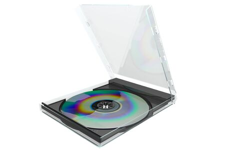 3D image of a dvd with case isolated on white background Stock Photo - 2918240