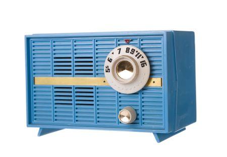 retro radio: retro radio isolated on white background Stock Photo
