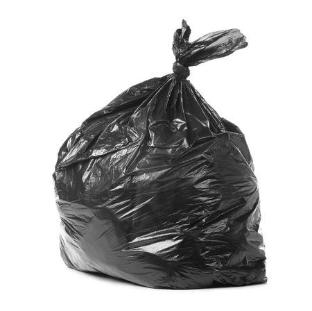 vuilnis zak geïsoleerd op een witte achtergrond Stockfoto