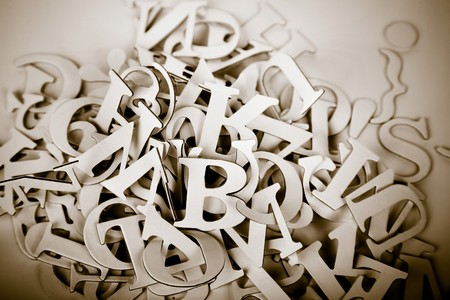 abstract vintage image of letters.personal editing Stock Photo