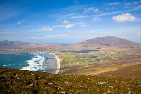 achill: ireland west-coast ,view on a sunny day