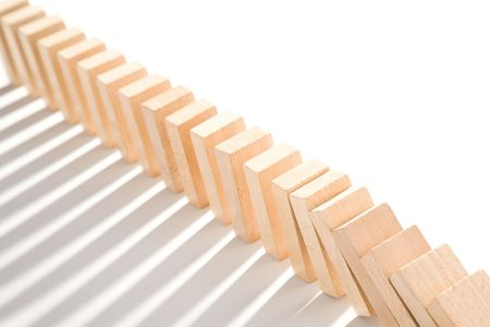 domino isolated on white as an abstract concept Stock Photo - 4989634