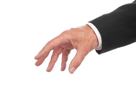 mannen hand, geïsoleerd op witte achtergrond
