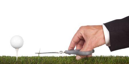voorbereiding van de green.metaphor voor de service en perfectie