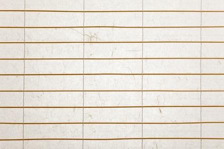 rijstpapier blinds met twijgen van bamboe, verlicht met mooie papier textuur Stockfoto