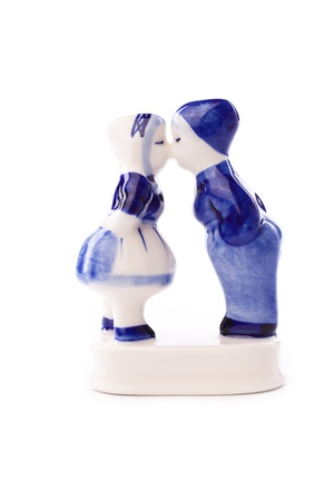 typical dutch delft blue ceramic  photo