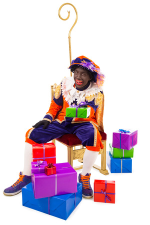 black pete:     typical Dutch character part of a traditional event celebrating the birthday of Sinterklaas in december