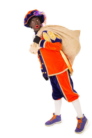 saint nicolaas:     typical Dutch character part of a traditional event celebrating the birthday of Sinterklaas in december