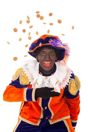 typisch Nederlandse karakter deel van een traditionele gebeurtenis vieren de verjaardag van Sinterklaas in december