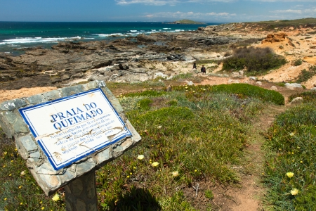 hiking trail portugal , rota vicentina photo