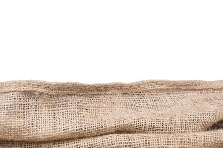 jute: burlap or jute border,isolated on white background