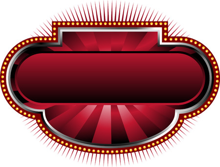 theatrical: Red Marquee Background Illustration