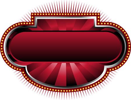 marquee sign: Tendone rosso sfondo Vettoriali
