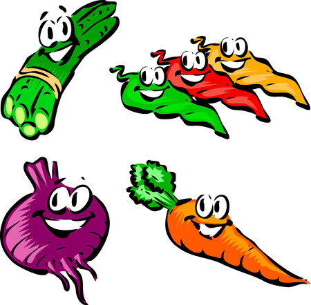 Espárragos, jalapeños, remolacha, zanahoria Foto de archivo - 2491149