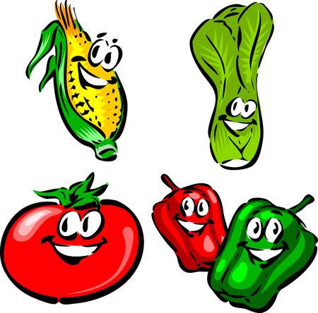 leak: Corn, Leak, Tomato, Red and Green Pepper