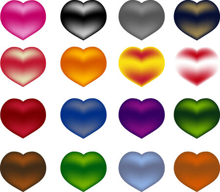 Multi colored hearts