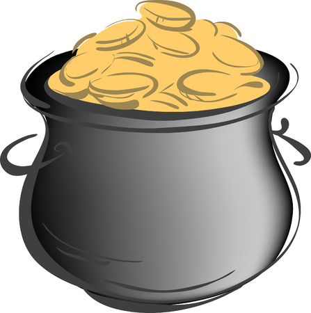 gold buckle: Pot of Gold