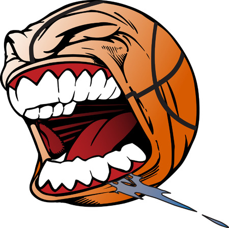 spitting: Screaming Basketball