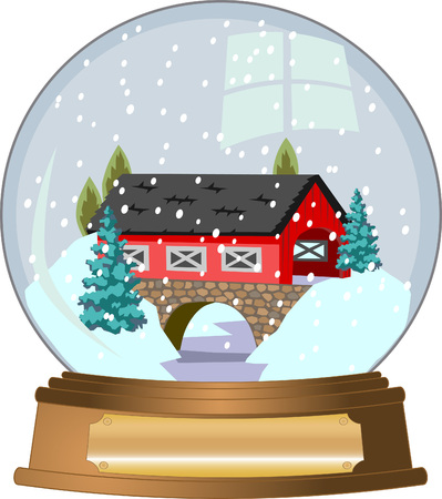 covered: Snow Globe Illustration