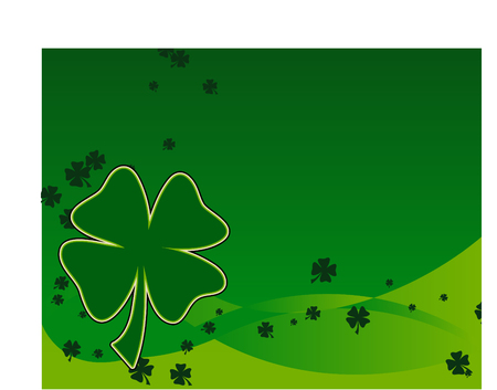 Four leaf Clover Background Vector