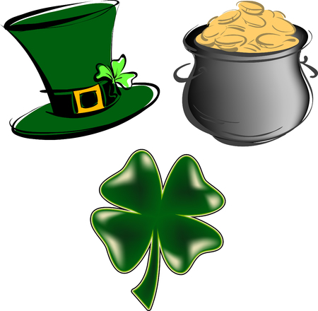 St Patricks Day items Vector