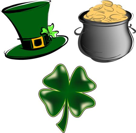 St Patricks Day items Stock Vector - 2491189