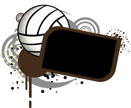 delito: Voleibol Plantilla  Vectores