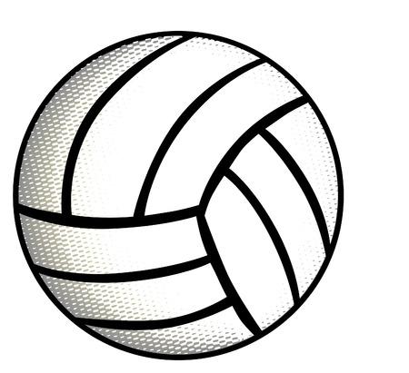 beach game: Volleyball Illustration