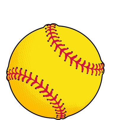 Yellow Softball or Baseball Stock fotó - 2491184