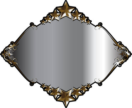 Silver and Gold Frame or Label