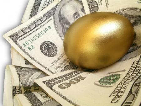 nest egg Standard-Bild
