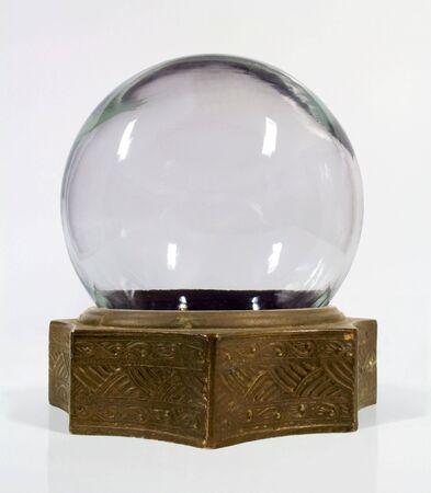 Vintage snow globe with brass base