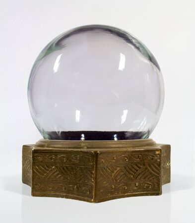 Vintage snow globe with brass base