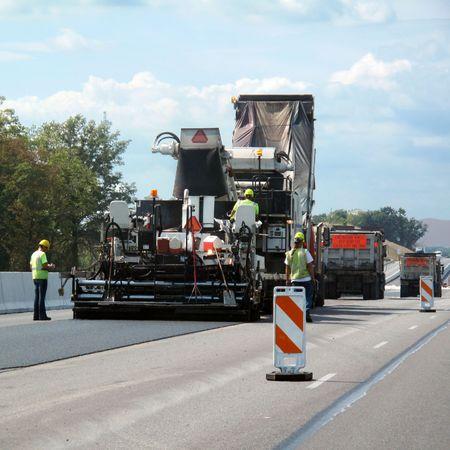 road paving: Road crew