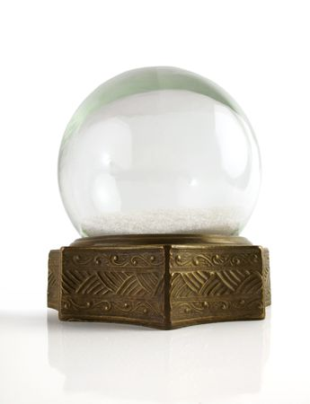 Beautiful vintage brass snowglobe with snow inside