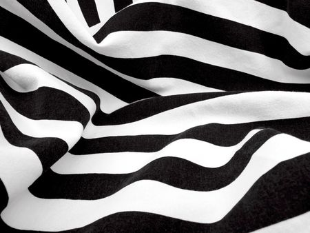 Schwarz und weiß Material erzeugt eine Windung oder Zebra Effekt