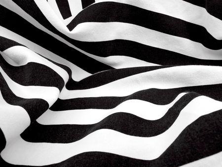 Black and White fabric creates a swirl or zebra effect                                Standard-Bild