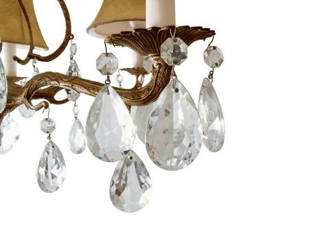 Vintage crystal chandelier                                photo
