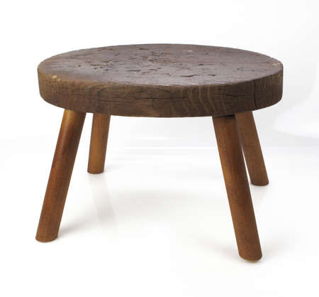 old furniture: Vintage stool