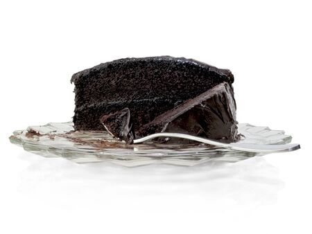 Half a cake is soon to be gone with evidence of someone snacking Stock Photo - 9480945