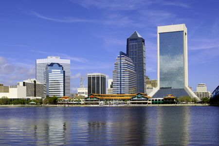Beautiful view of Jacksonville, Florida at the St  John Stock Photo