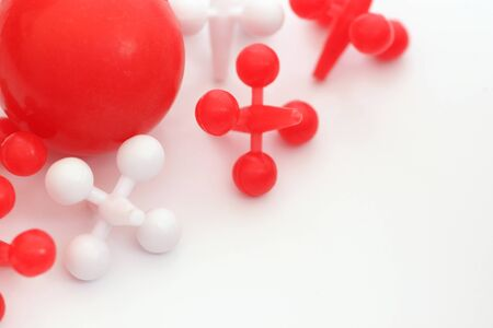 jacks: Red and Wite game of jacks on white background