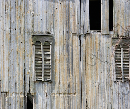 Old sun-bleached barn siding