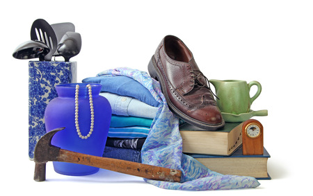 resale: Assorted household and personal items Stock Photo