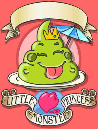 poo: Detailed illustration of a Game Tale - Spellbound Little Monster Princess - PooThis illustration is saved in EPS10 with color space in RGB.