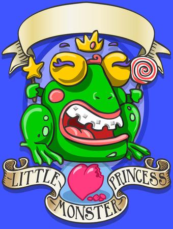 Gedetailleerde illustratie van een Game Tale - Spellbound Little Monster Princess - RaThis afbeelding wordt opgeslagen in EPS10 met kleur in RGB.