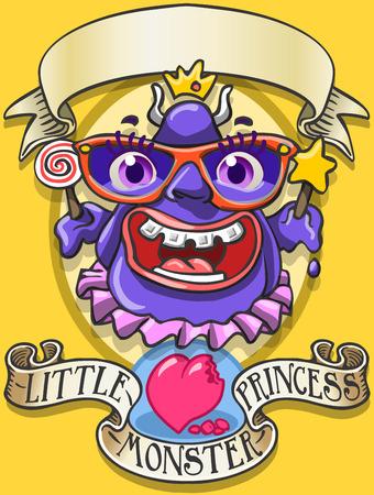 Gedetailleerde illustratie van een Game Tale - Spellbound Little Monster Princess - EyeThis afbeelding wordt opgeslagen in EPS10 met kleur ruimte in RGB.